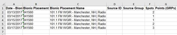 Manually Uploading data for Radio Advertising – Bionic Help